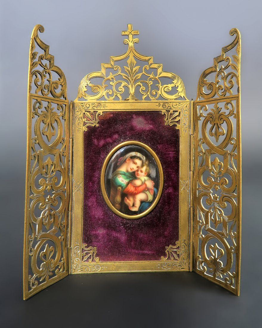 "French Bronze Frame Plaque signed ""Alphonse Giroux"""
