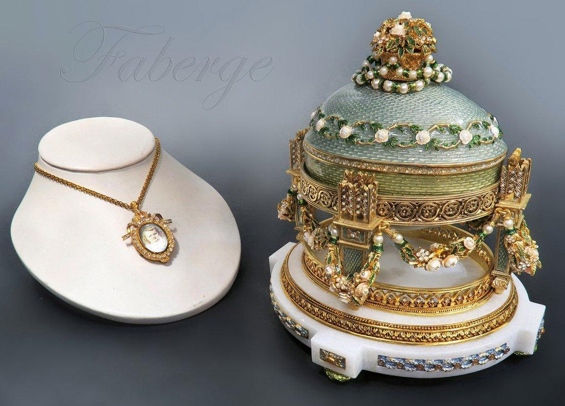 large Enamel Jeweled Faberge Egg (Museum quality)