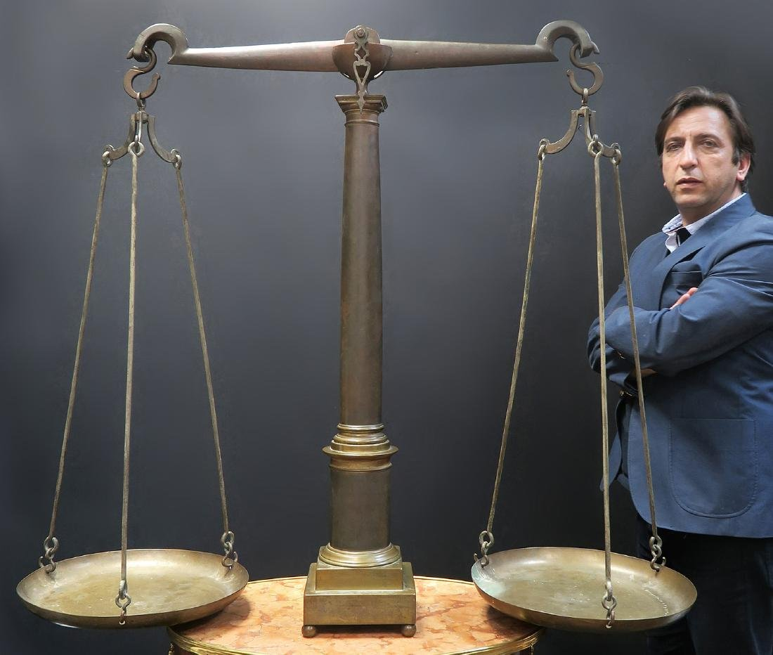 Large French Bronze 18th Century Balance Scale