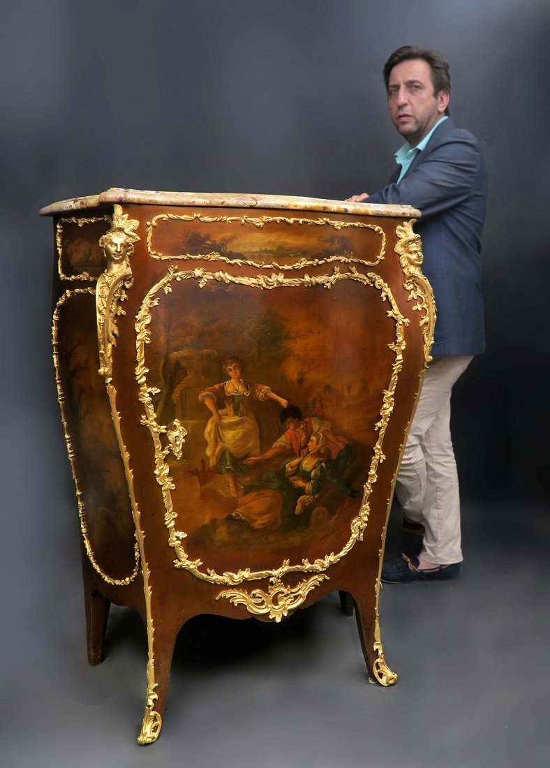 Fine Bronze Mounted Sormani French Cabinet