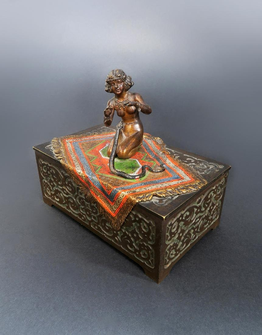 Austrian Cold-painted Bronze Figural Box