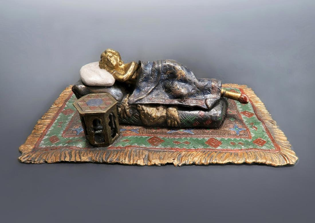 Cold Painted Orientalist Vienna Bronze by Bergman