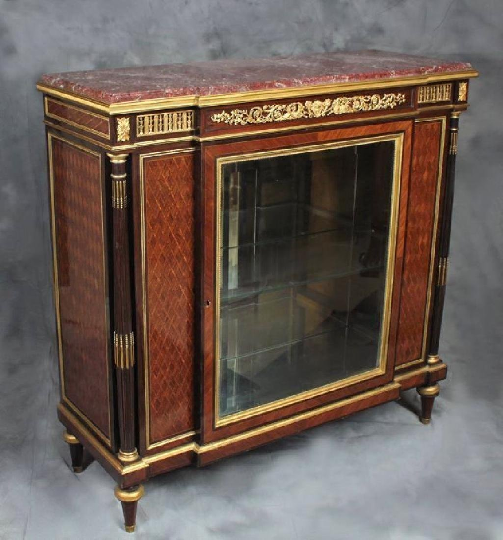 "Very Fine French Vitrine Cabinet Signed ""F. Linke"""