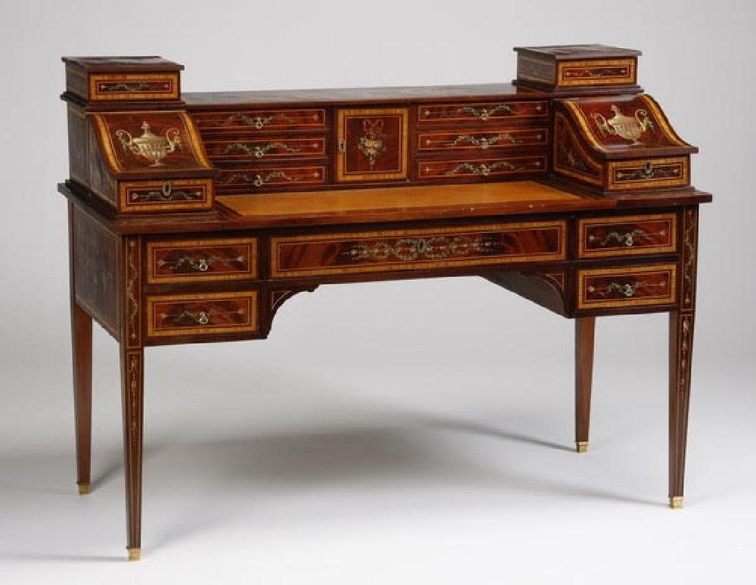 Magnificent English Regency style mahogany writing desk