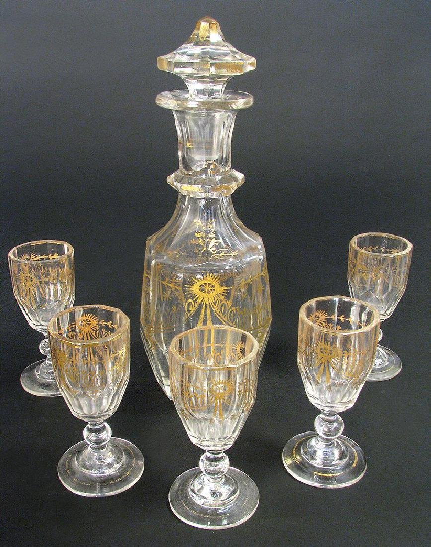 19th C. French Baccarat Crystal Liquor Set