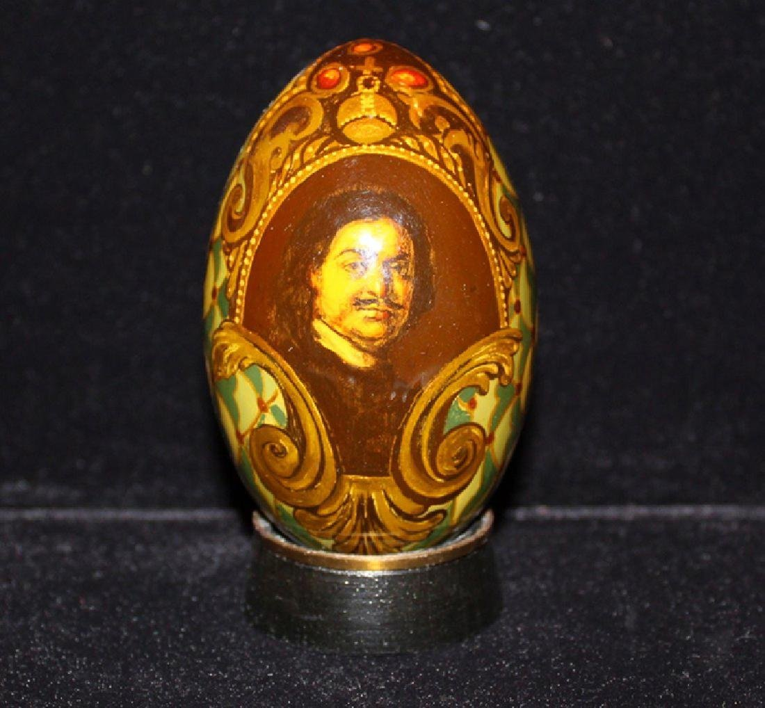 Enameled egg with Portrait