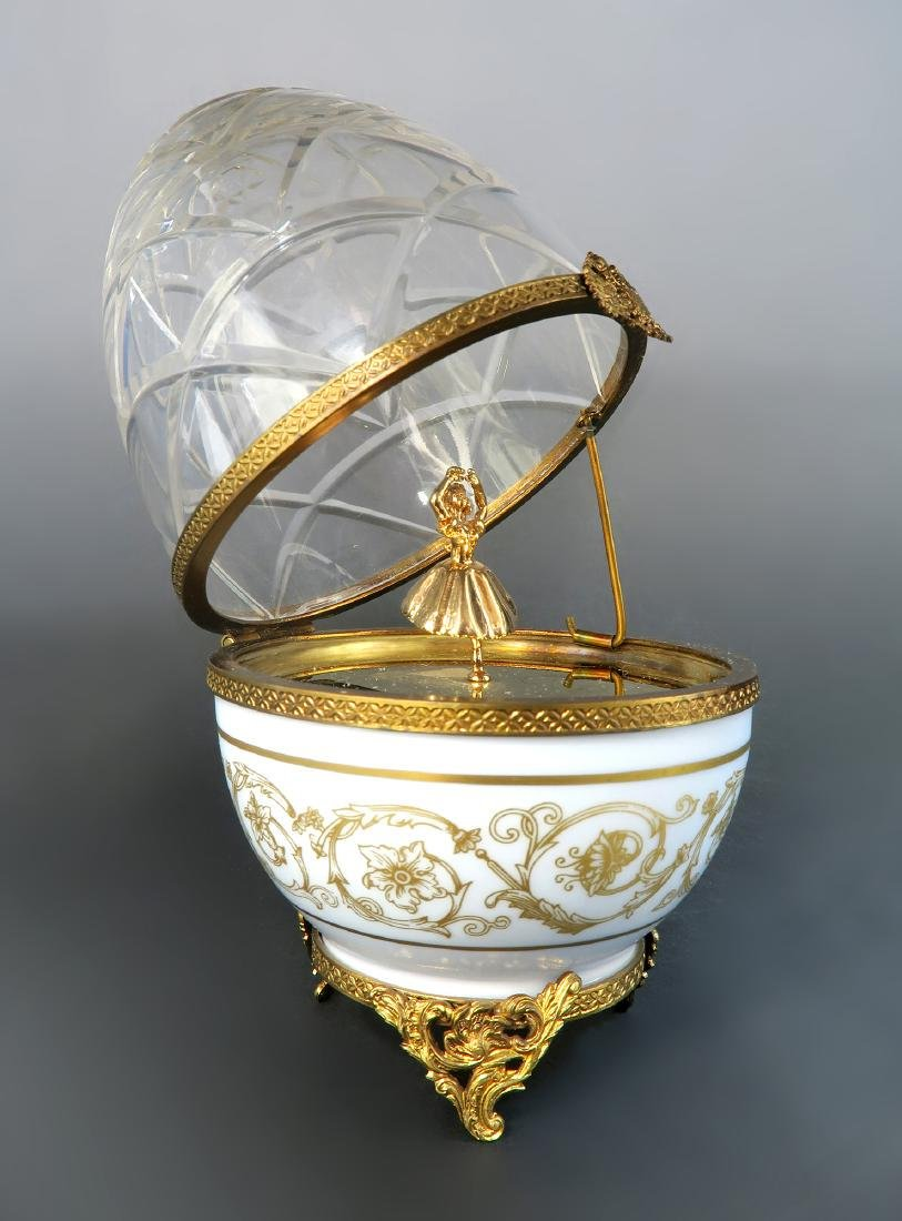French Sterling Silver Limited Edition Faberge Egg - 2