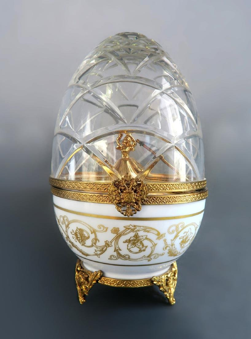 French Sterling Silver Limited Edition Faberge Egg - 3