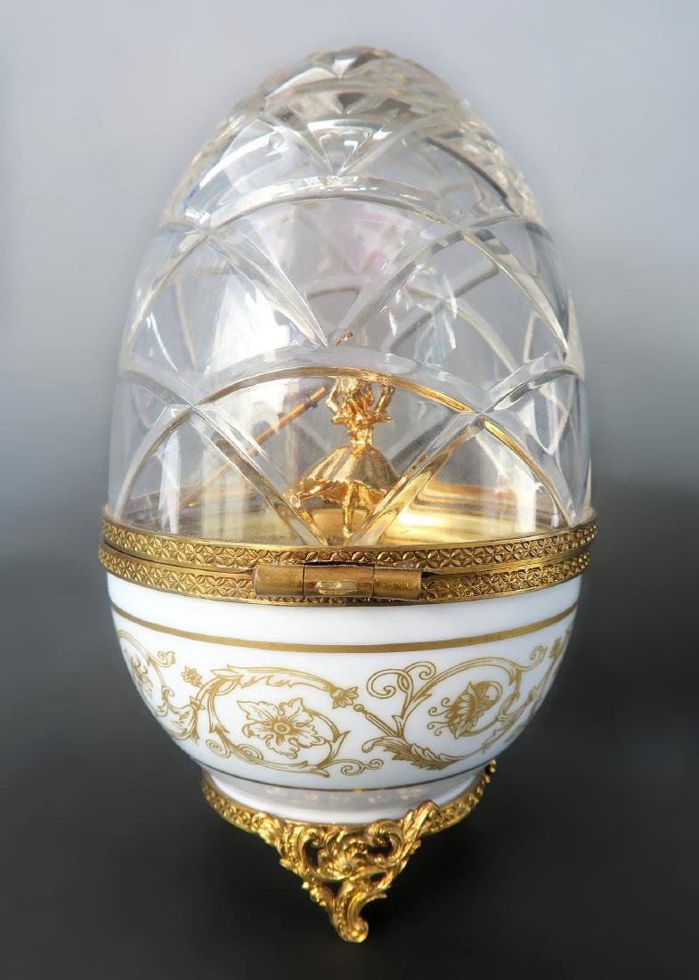 French Sterling Silver Limited Edition Faberge Egg - 4