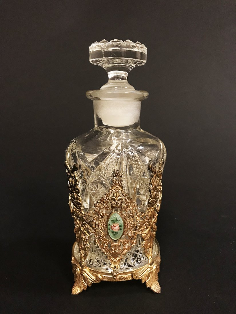 A French Bronze / Glass Bottle