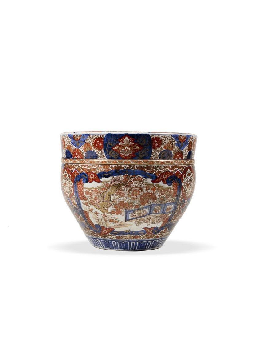"""A Japanese """"IMARI"""" Porcelain Cache Pot"""