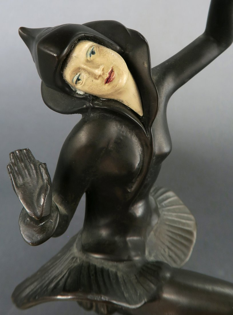 "Art Deco Bronze ""Woman Dancer"" Sculpture"