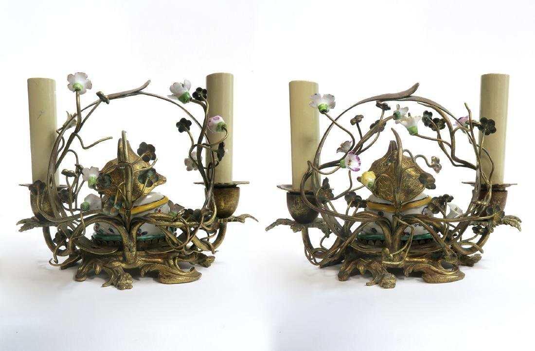 "A Pair of ""Meissen"" Chinoiserie Candelabras. 19th C. - 4"