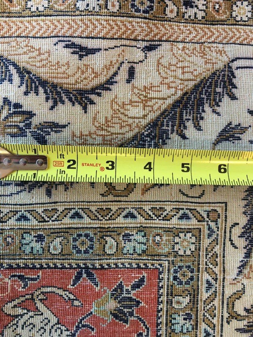 Semi-Antique Silk Persian Rug, Qom - 2