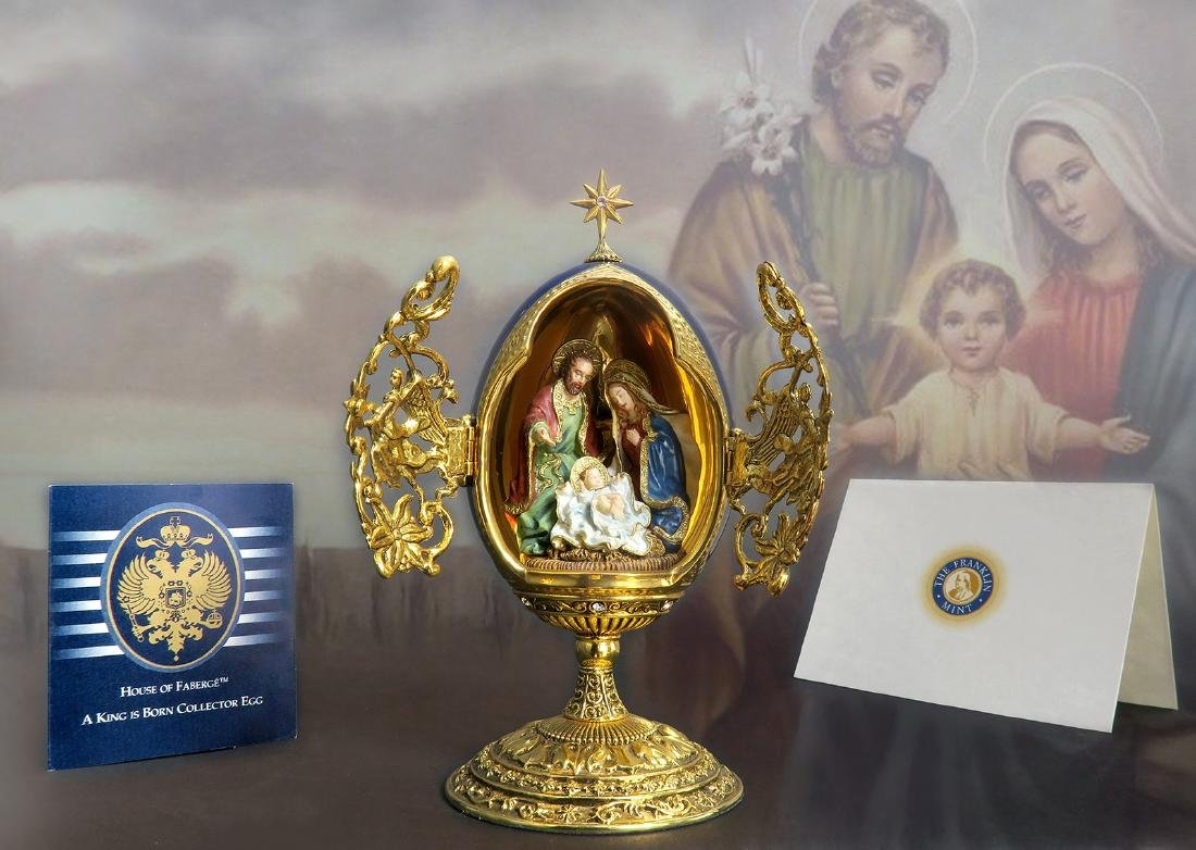 """House Of Faberge """"A King Is Born"""" Christmas Egg"""