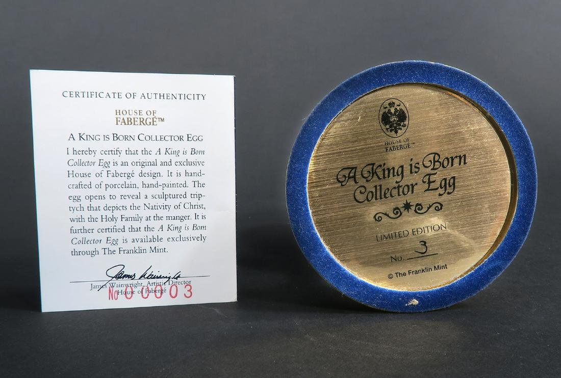 """House Of Faberge """"A King Is Born"""" Christmas Egg - 6"""