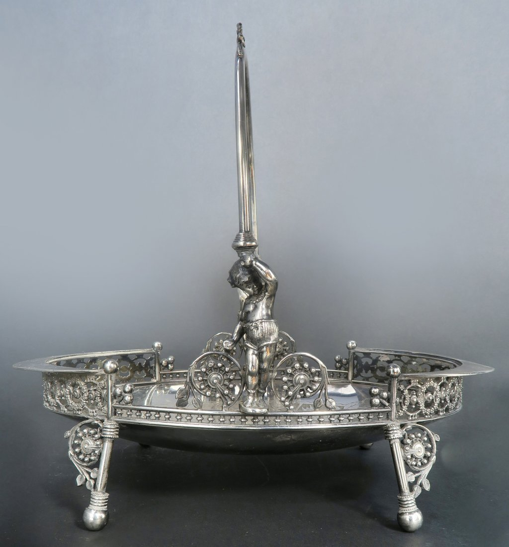 French Silver Plated Engraved Figural Centerpiece - 2