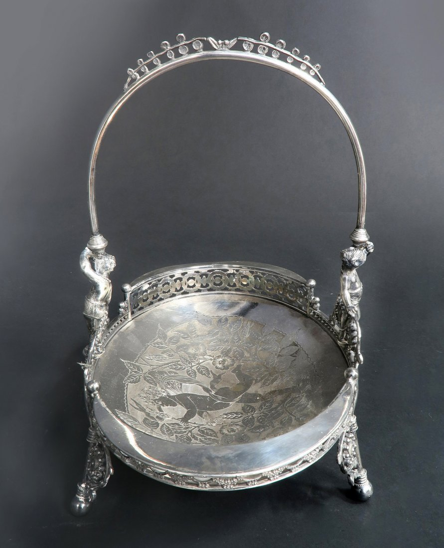 French Silver Plated Engraved Figural Centerpiece - 3