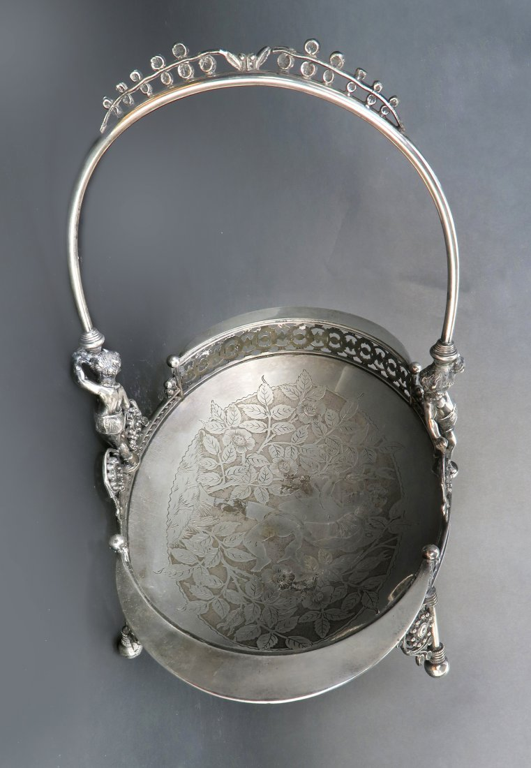 French Silver Plated Engraved Figural Centerpiece - 4
