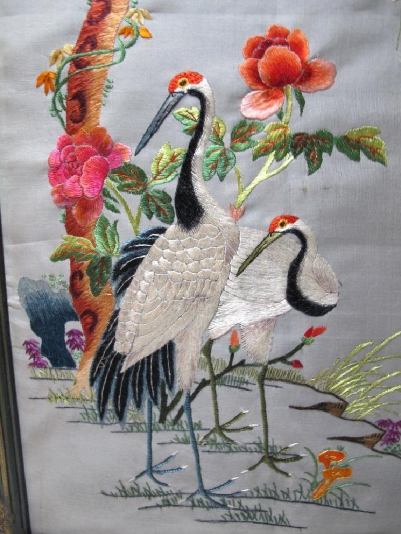 Embroidered Pair of Ancient Chinese Panels - 4