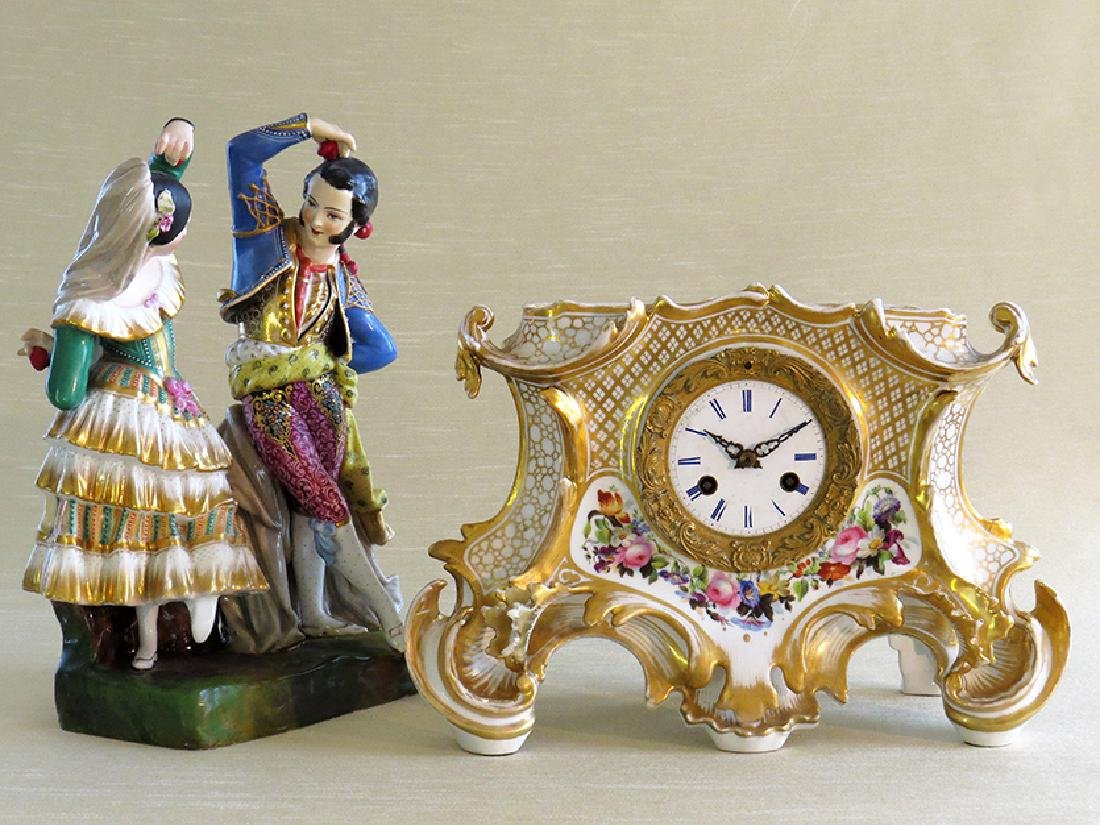 Antique French Porcelain Clock - 10