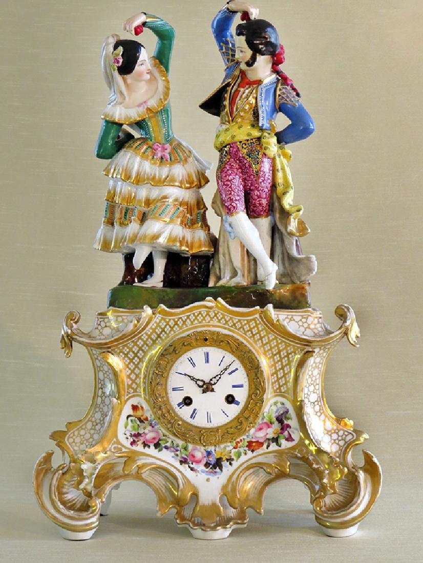 Antique French Porcelain Clock