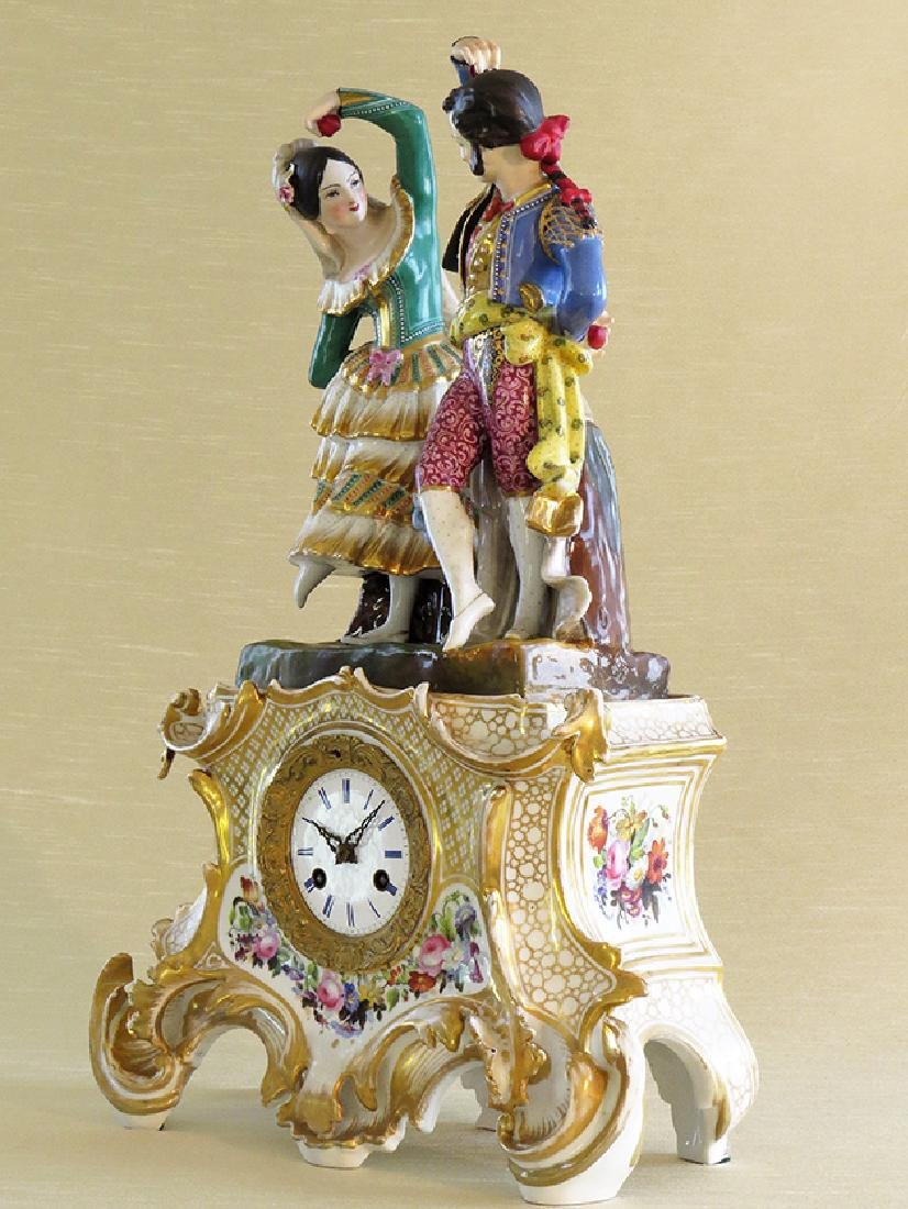 Antique French Porcelain Clock - 2