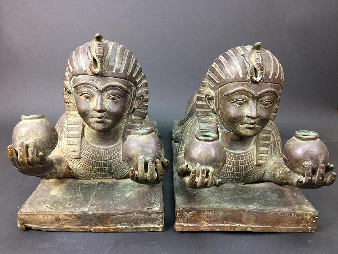 OLD EGYPTIAN BRONZE FIGURINES