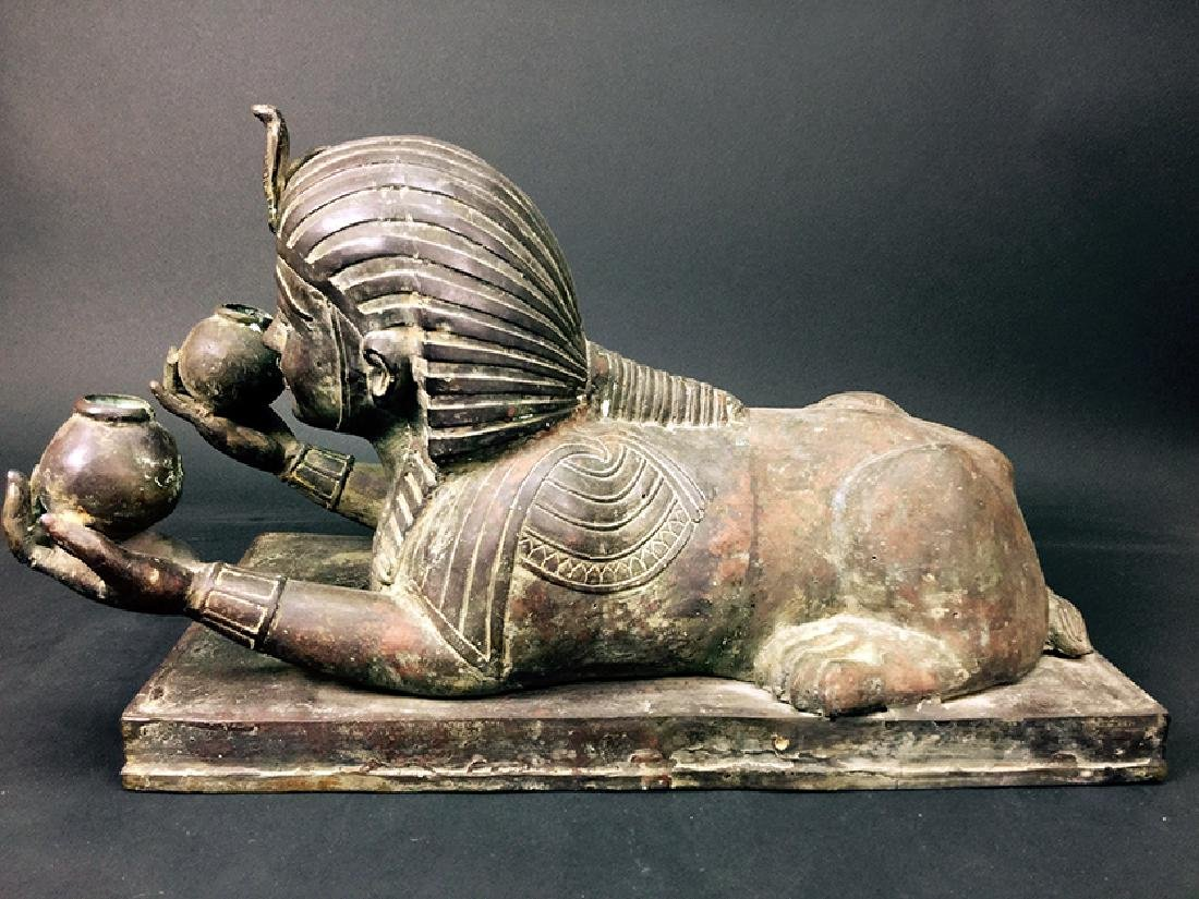OLD EGYPTIAN BRONZE FIGURINES - 4