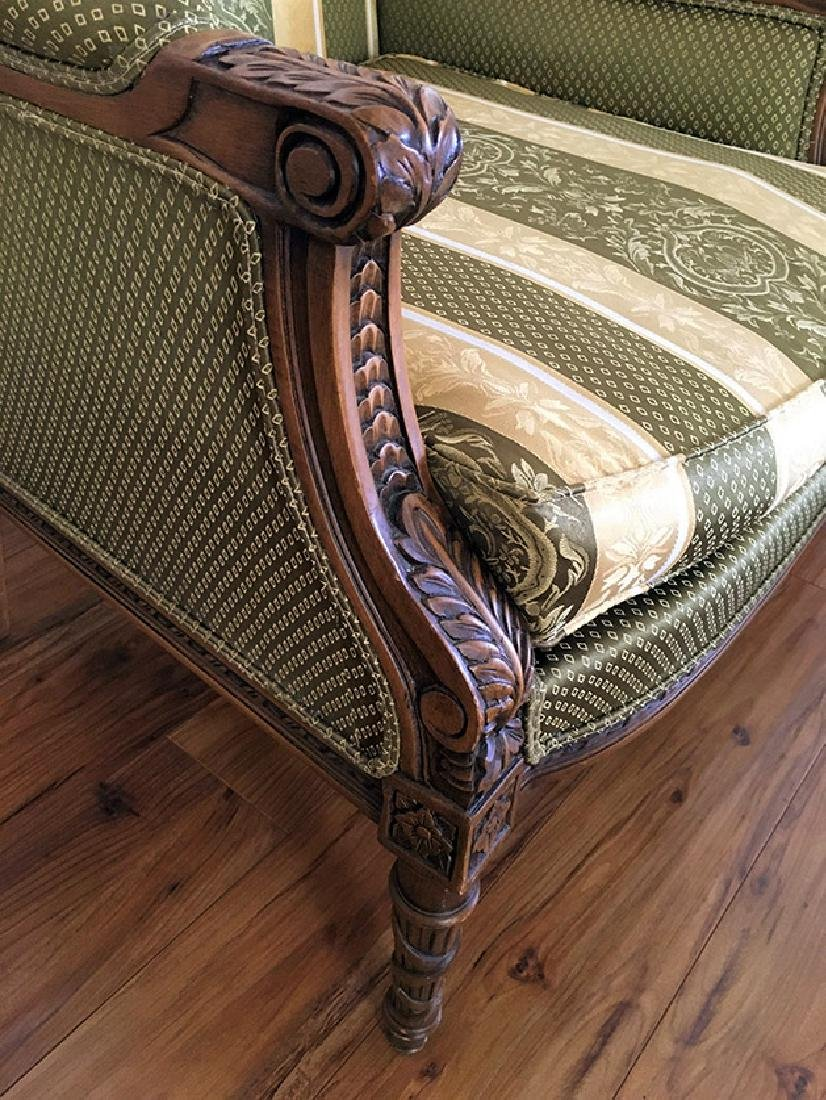 "Pair of Beautifully Carved ""Bergere"" Armchairs - 3"