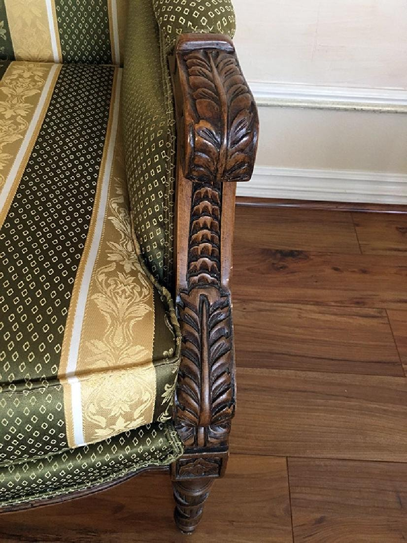"Pair of Beautifully Carved ""Bergere"" Armchairs - 4"