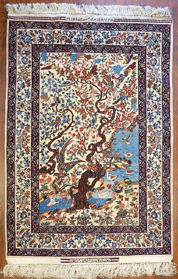 "Authentic Persian Rug from Isfahan By ""Seirafian"""