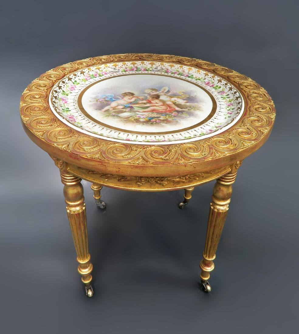19th C. French Sevres Side Table