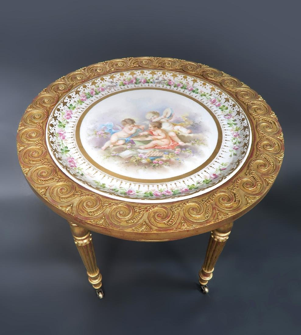19th C. French Sevres Side Table - 2