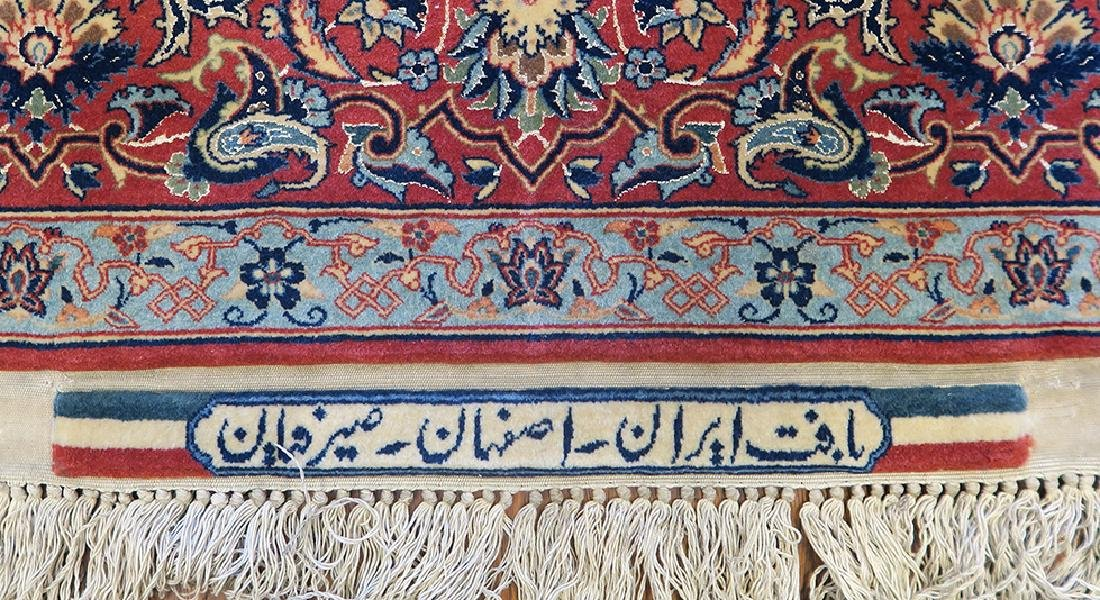 "Isfahan Silk Warp Authentic ""Seirafian"" Persian Rug - 4"