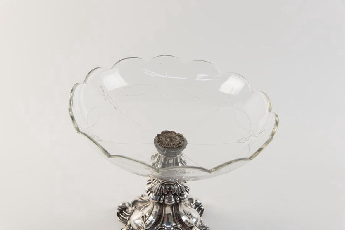 19th C. German Sterling Silver Compote - 2