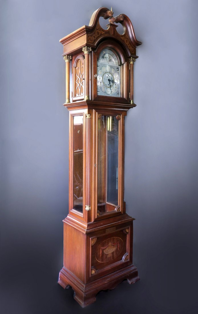 "RARE ""RIDGEWAY\"" GRANDFATHER CLOCK, 7 FEET!"