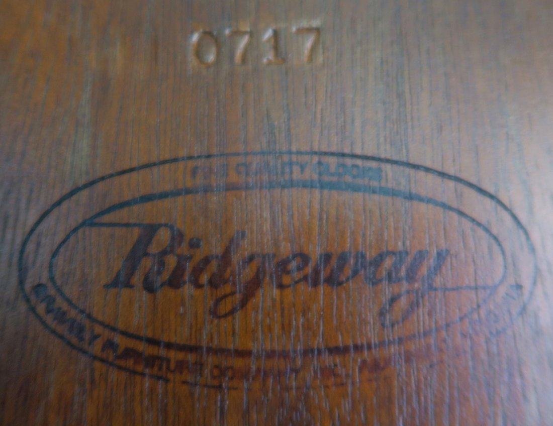 "RARE ""RIDGEWAY\"" GRANDFATHER CLOCK, 7 FEET! - 9"