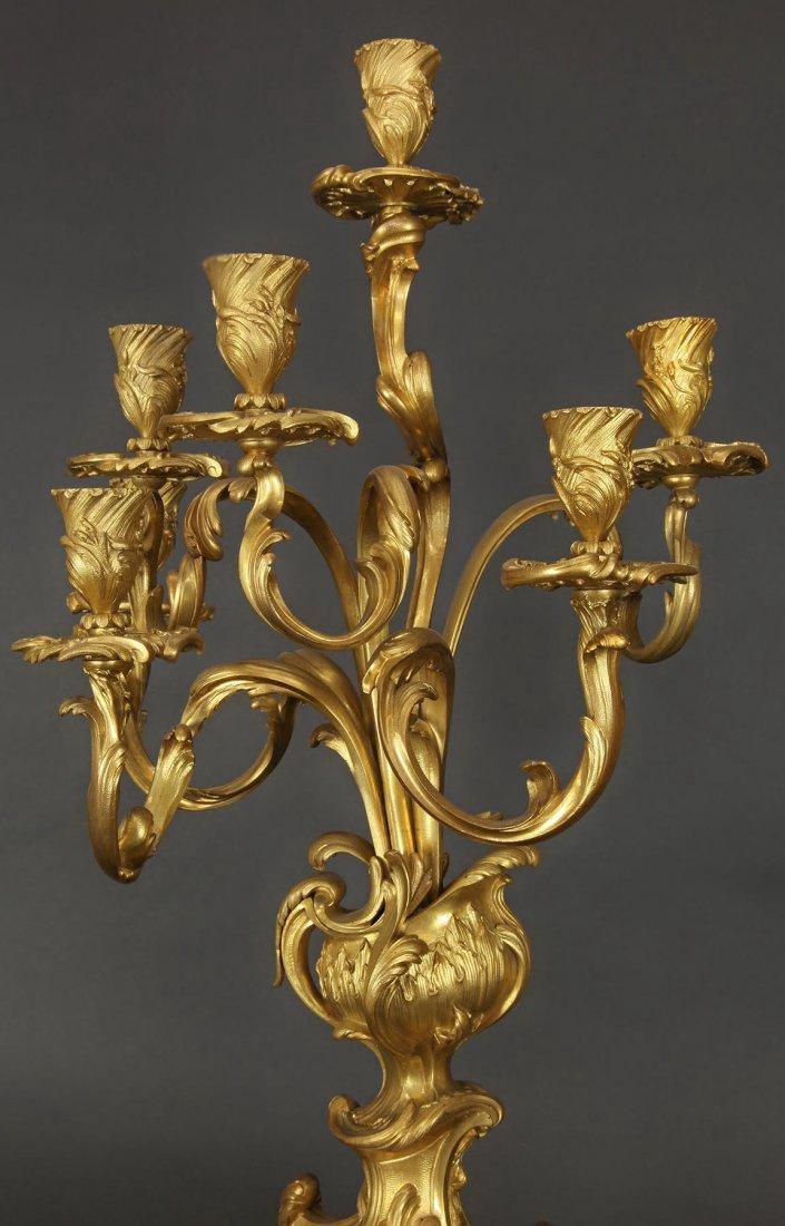 Pair of Louis XV Style Candelabras Attr. F Linke - 4