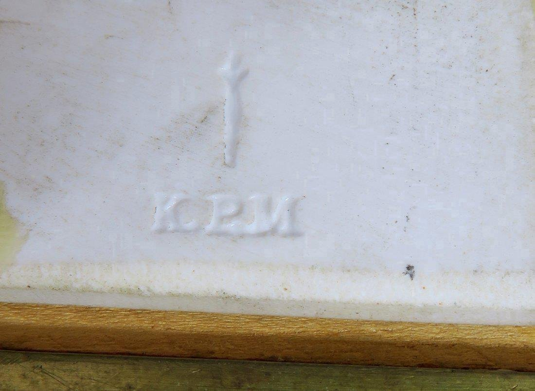 Berlin KPM Porcelain Plaque Champleve Bronze Frame - 5