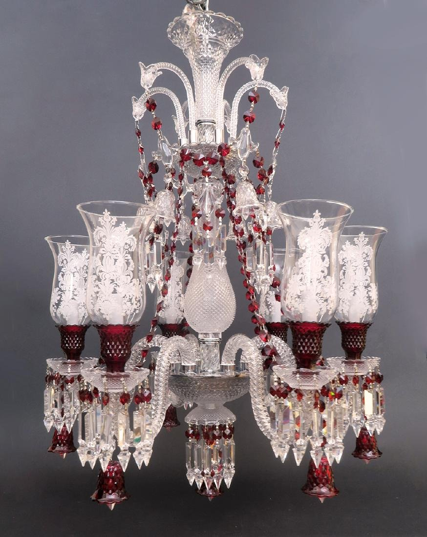 Stunning 6 Light Chandelier probably Baccarat Zenith