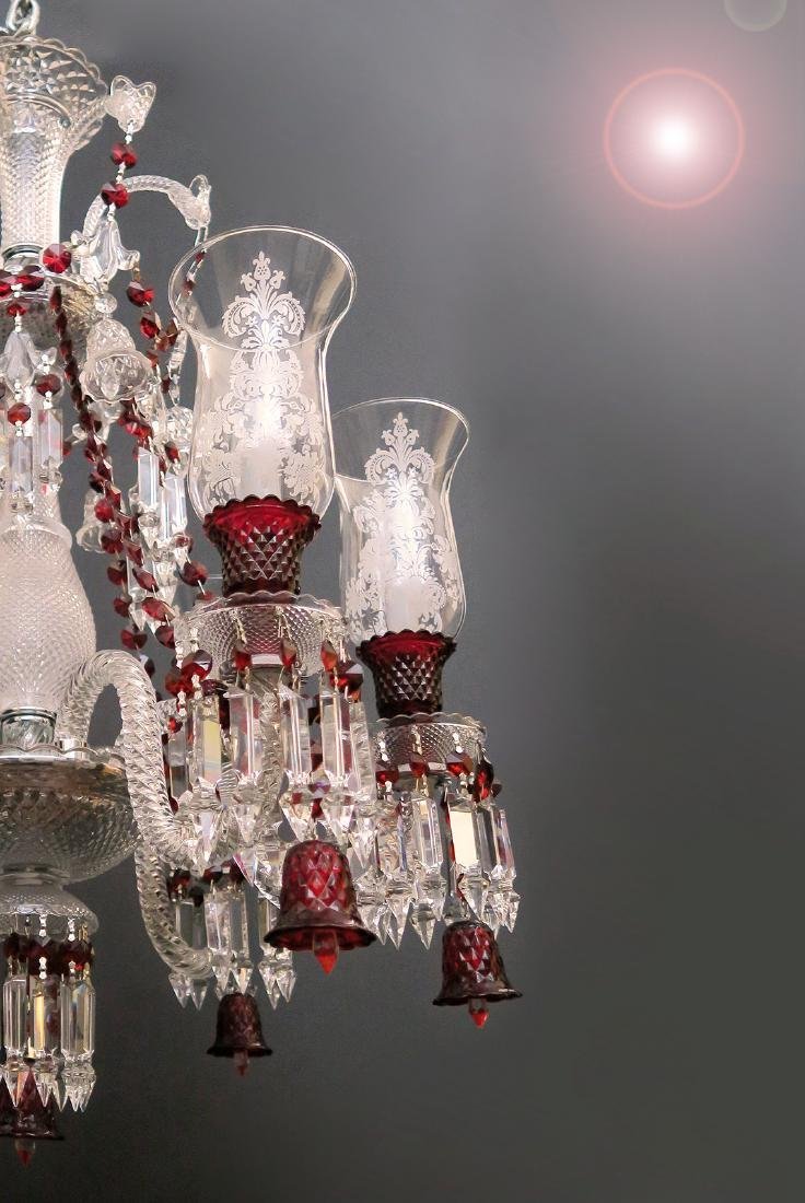 Stunning 6 Light Chandelier probably Baccarat Zenith - 2