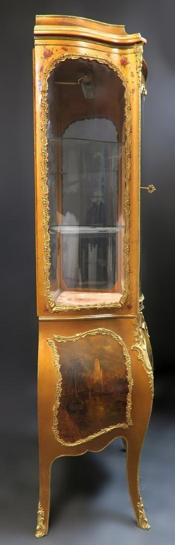 19th C. French Vernis Martin Vitrine Cabinet - 3