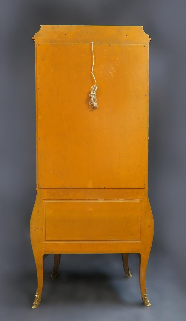 19th C. French Vernis Martin Vitrine Cabinet - 4