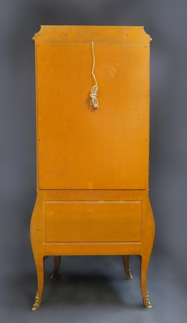 19th C. French Vernis Martin Vitrine Cabinet - 4
