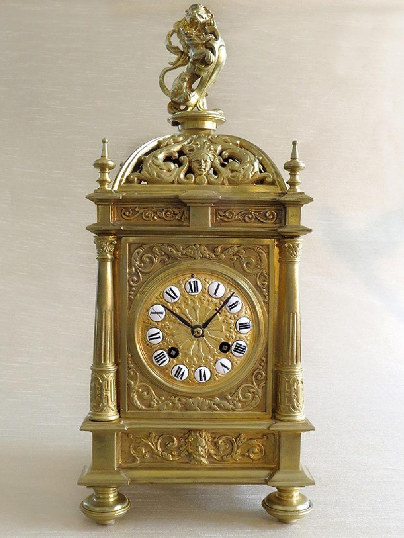 Antique Elegant Gilt Bronze French clock