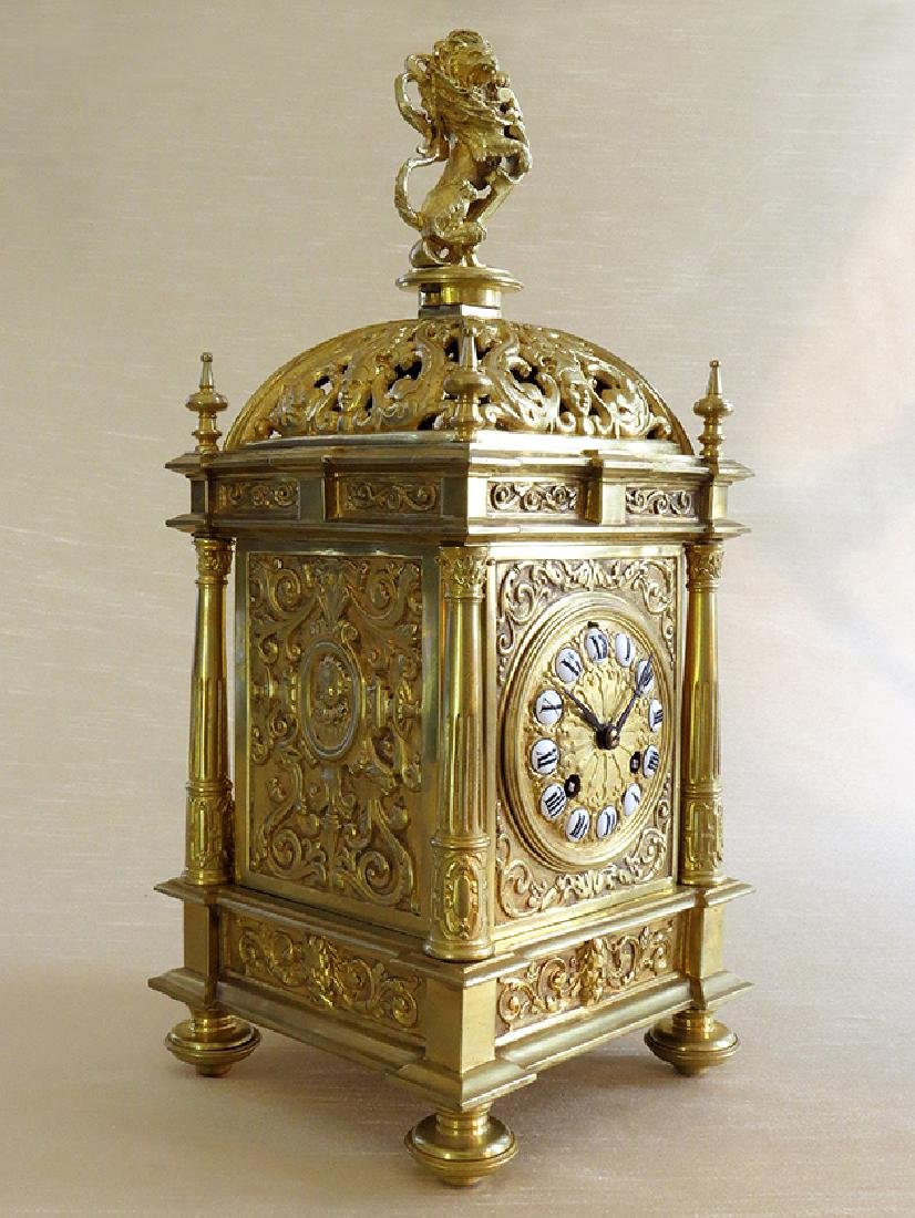 Antique Elegant Gilt Bronze French clock - 2