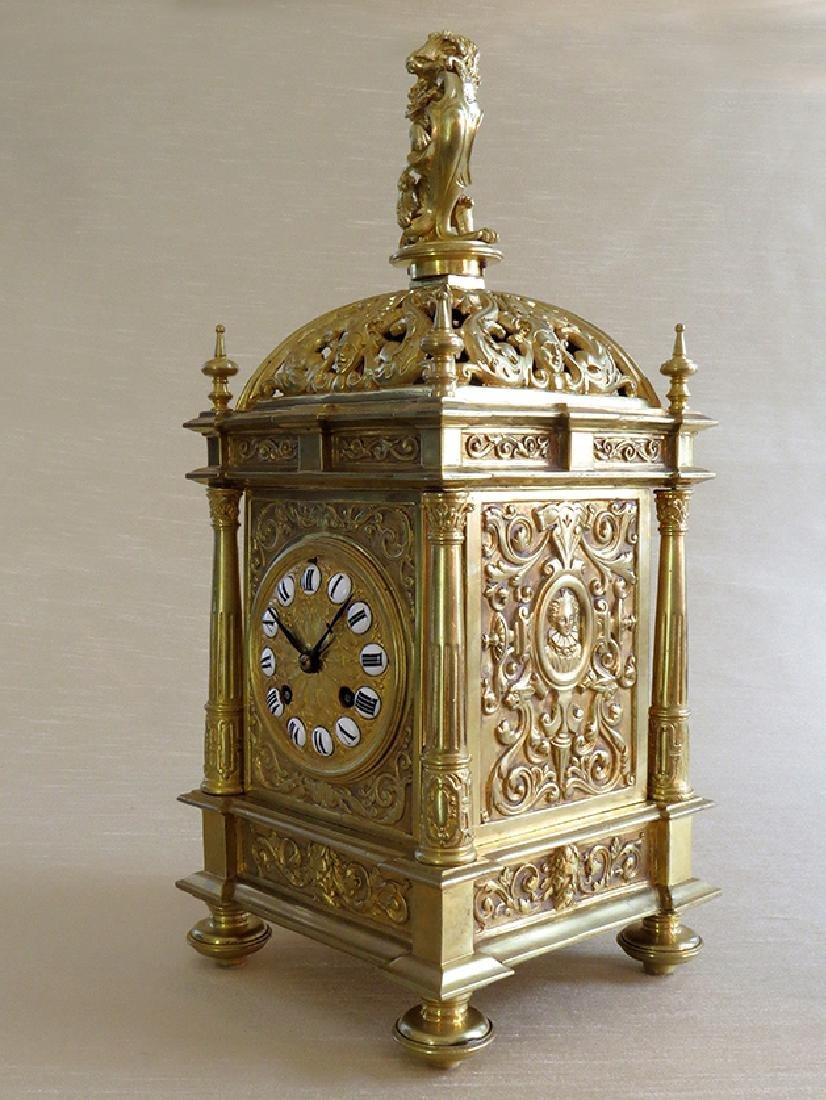 Antique Elegant Gilt Bronze French clock - 3