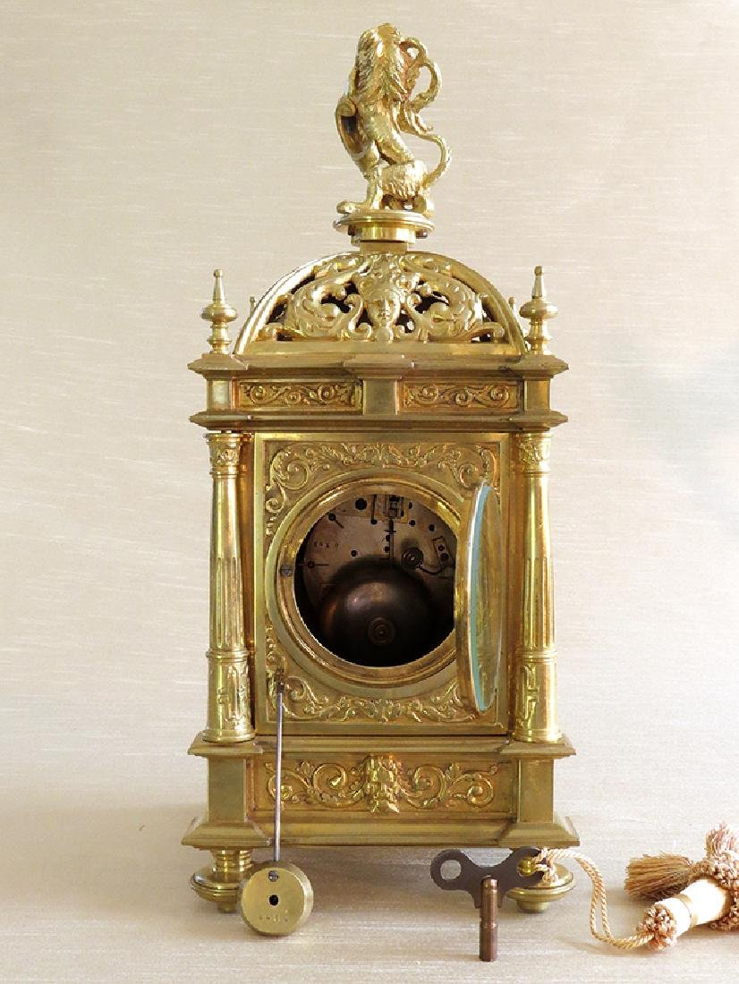 Antique Elegant Gilt Bronze French clock - 8