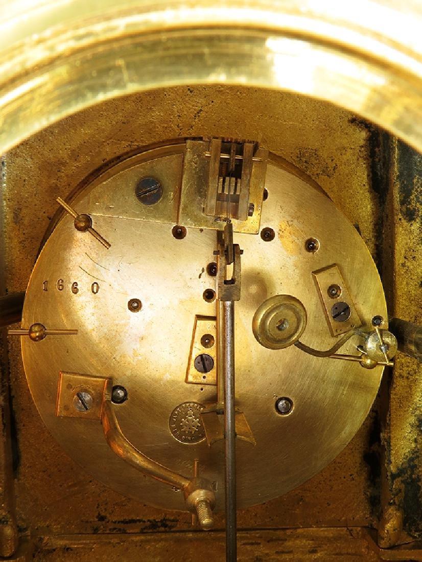 Antique Elegant Gilt Bronze French clock - 9
